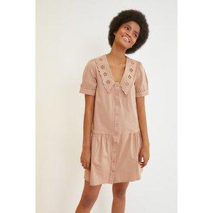 Trendyol Camel Smock Dress With Collar Size: 12 Uk, Colour: Camel Ss21el118812