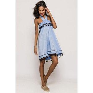 Wanderer Smock Dress Size: M/l, Colour: Blue S8gf01133blm/l