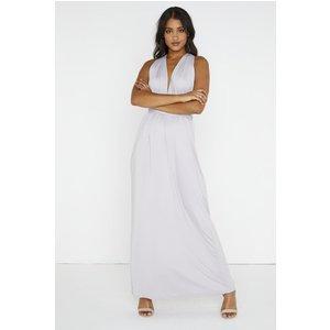 Whisper Plunge Maxi Dress Size: S/m, Colour: Grey A8gf0101gys/m