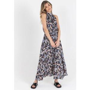 Zibi London Polly Black Cashmere Print Maxi Dress Size: 8 Uk, Colour: Littlemistress130168
