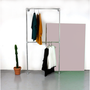 Ziito W1 - Wall Mounted Clothes Rack With Two Pipes 24410172417