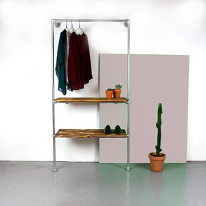 Ziito W12 - Wall Mounted Clothes Rack With Two Shelves 31784305393733