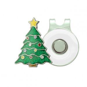 Surprizeshop Golf Christmas Tree Ball Marker And Visor Clip Set