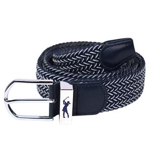 Surprizeshop Navy And White Stretch Webbing Ladies Golf Belt
