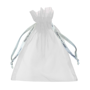 Surprizeshop Pack Of 10 From The Lady Captain White Organza Bag