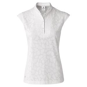 Surprizeshop Uma Cap Sleeve Polo Shirt- White-white-cap Sleeve-extra Small