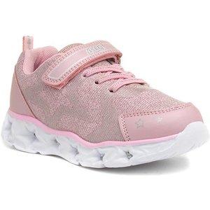 Ascot Galaxy Girls Pink Light Up Trainer 807006 Childrens Footwear
