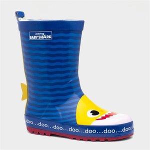 Baby Shark Kids Wellington Boot 799079 Childrens Footwear