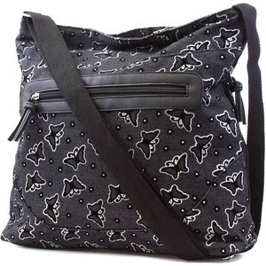 Bags Black Butterfly Print Shoulder Bag 90477 Womens Accessories