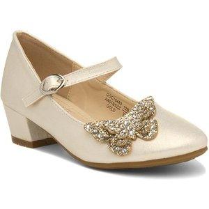 Buckle My Shoe Simene Girls Ivory Party Shoe 22907 Childrens Footwear