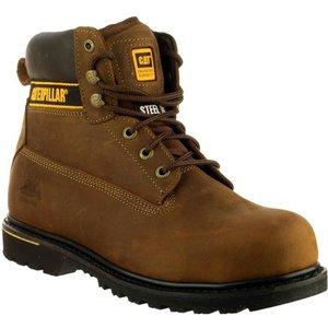 Cat Safety Footwear Holton S3 Mens Boot In Brown 558048 Mens Footwear