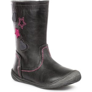 Chatterbox Girls Black Embroidered Calf Boot 28177 Childrens Footwear