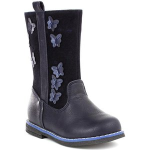 Chatterbox Girls Navy Butterfly Boot 28179 Childrens Footwear