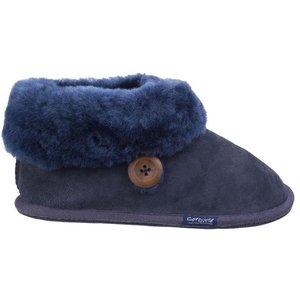 Cotswold Womens Wotton Sheepskin Bootie In Blue 699152 Womens Footwear