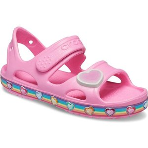 Crocs Fun Lab Rainbow Girls Sandal In Pink 292048 Childrens Footwear