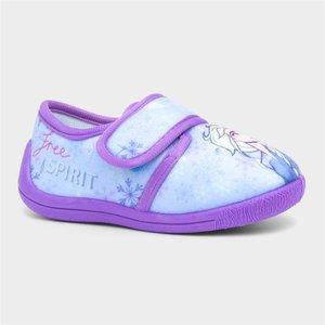 Disney Frozen Ii Kids Easy Fasten Light Up Slipper 697006 Childrens Footwear