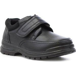 D-max Boys Black Easy Fasten Shoe 20395 Childrens Footwear