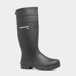 Dunlop Universal Adult Black Wellington Boot 55310 799137 Mens Footwear