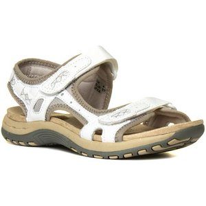 Earth Spirit Frisco Womens White Leather Sandal 19658 Womens Footwear