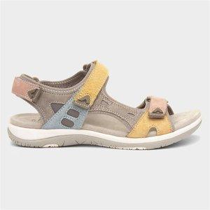 Earth Spirit Skylar Womens Beige Leather Sandal 199043 Womens Footwear