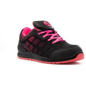 Earth Works Safety Earth Works Unisex Pink And Black Mesh Safety Shoe 55902 Womens Footwear