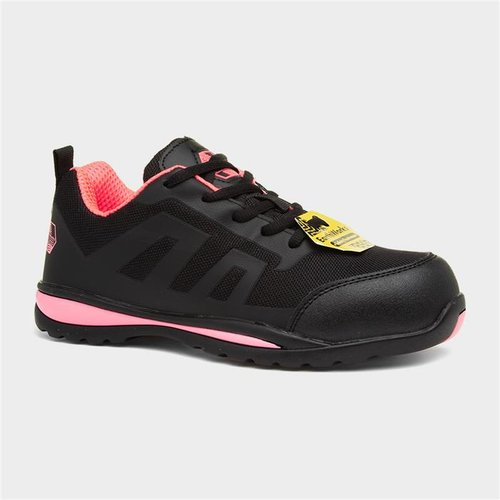 Earth Works Safety Earth Works Womens Black And Pink Safety Shoe 559001 Womens Footwear