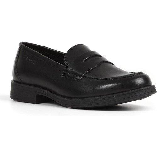 Geox Girls J Agata D Slip On Leather Shoe In Black 204009 Childrens Footwear