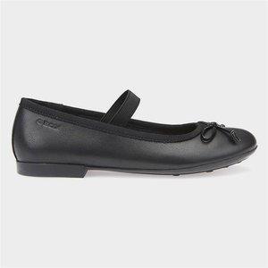 Geox Plie' Girls School Shoe In Black 204019 Childrens Footwear
