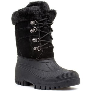 Groundwork Womens Black Lace Up Snow Boot 18986 Womens Footwear