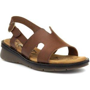 Heavenly Feet Jasper Womens Tan Wedge Sandal 19297 Womens Footwear