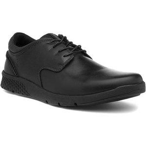 Hush Puppies Asher Mens Black Leather Shoe 52396 Mens Footwear
