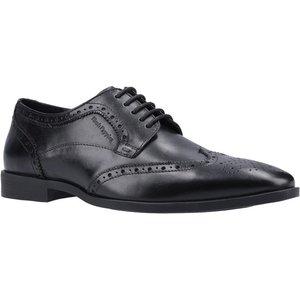 Hush Puppies Brace Mens Lace Up Brogue In Black 520172 Mens Footwear