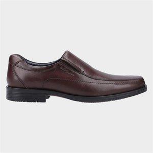 Hush Puppies Brody Mens Leather Shoe In Brown 520241 Mens Footwear