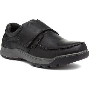 Hush Puppies Casper Mens Black Leather Shoe 52393 Mens Footwear