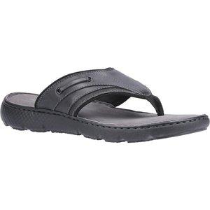 Hush Puppies Connor Flip Flop In Black 594008 Mens Footwear