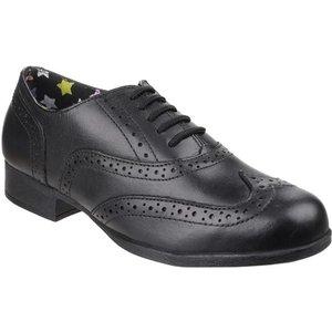 Hush Puppies Girls Kada Senior In Black 202008 Childrens Footwear