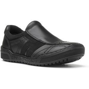 Hush Puppies Jake Boys Slip On Shoe In Black 20358 Childrens Footwear