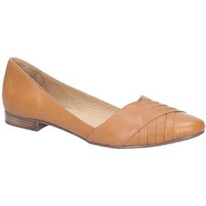 Hush Puppies Marley Ballerina Slip On Shoe In Tan 130001 Womens Footwear