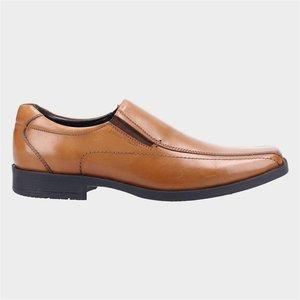 Hush Puppies Mens Brody Leather Shoe In Tan 520253 Mens Footwear
