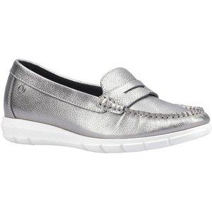 Hush Puppies Paige Slip On Loafer In Metallic 120023 Womens Footwear