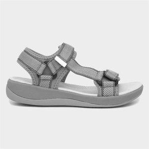 Hush Puppies Sara Womens Grey Sports Sandal 199051 Womens Footwear