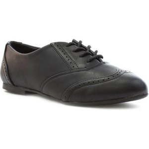 Lilley Girls Black Lace Up Brogue Shoe 20431 Childrens Footwear