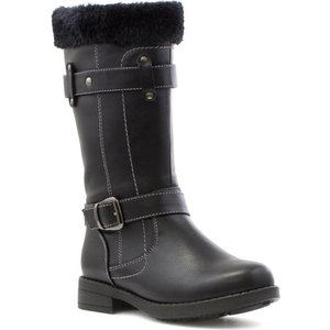 Lilley Girls Black Riding Boot With Faux Fur 28429 Childrens Footwear