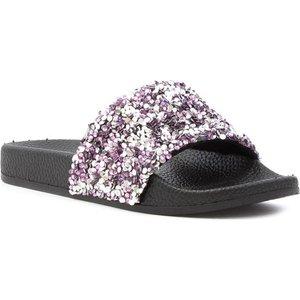 Lilley Girls Silver And Pink Slip On Slider 29880 Childrens Footwear