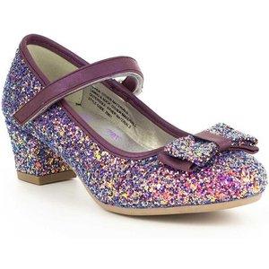 Lilley Sparkle Girls Purple Glitter Party Shoe 20801 Childrens Footwear