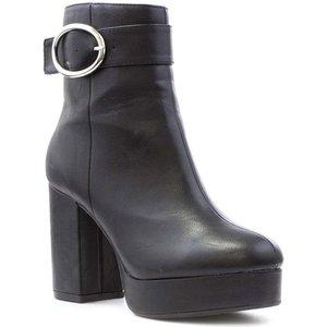 Lilley Womens Black High Platform Boot 18649 Womens Footwear
