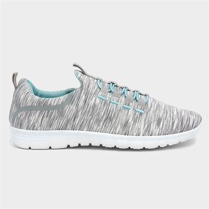 Lilley Womens Grey Bungee Lace Trainer 12548 Womens Footwear