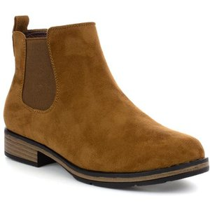Lilley Womens Tan Faux Suede Ankle Boot 18090 Womens Footwear
