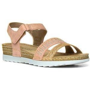Lotus Taryn Womens Pink Easy Fasten Wedge Sandal 19674 Womens Footwear