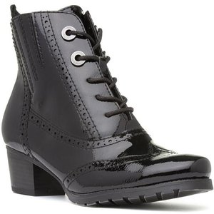 Marco Tozzi Womens Black Patent Ankle Boot 18104 Womens Footwear
